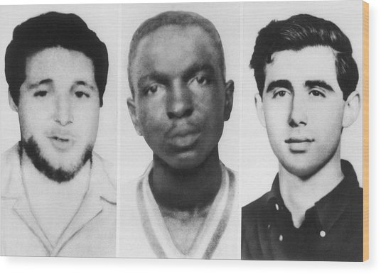 Civil Rights Workers Murdered Wood Print