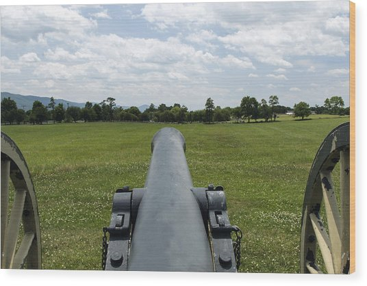 Civil War Cannon  Wood Print
