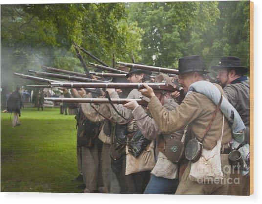 Civil War Reenactment 1 Wood Print