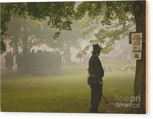 Civil War Reenactment 3 Wood Print