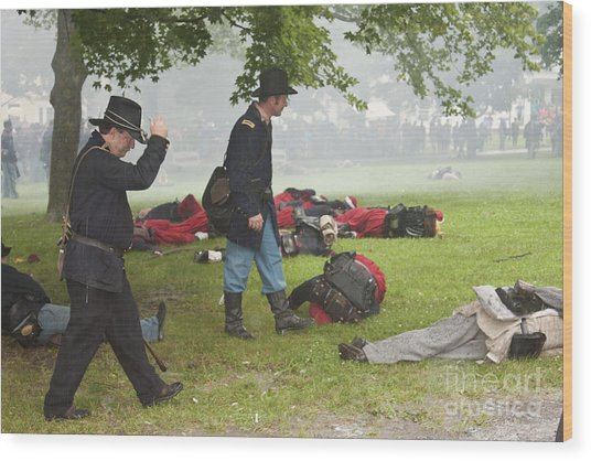 Civil War Reenactment 4 Wood Print