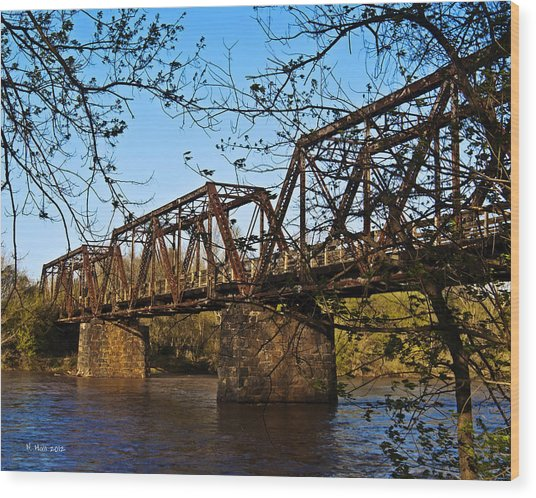 Civil War Trestle Wood Print
