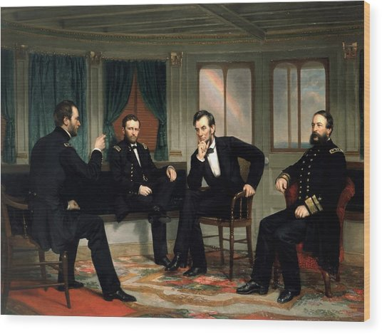 Civil War Union Leaders -- The Peacemakers Wood Print