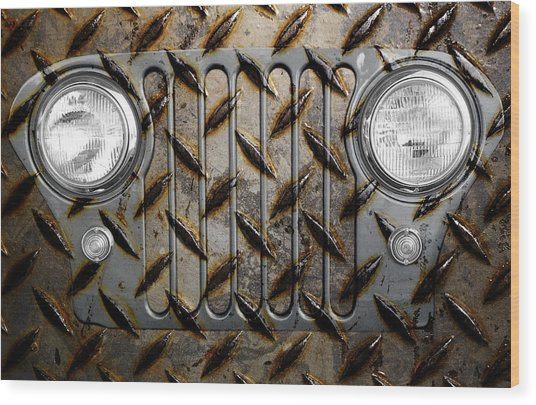 Civilian Jeep- Steel Gray Wood Print