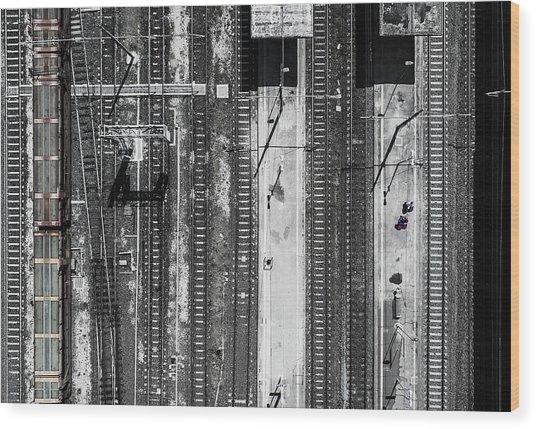 Civitavecchia Train Station Wood Print