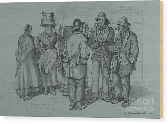 Claddagh People 1873 Wood Print