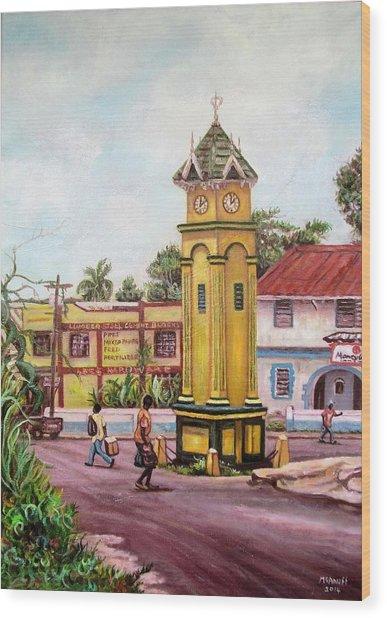 Claremont Square Wood Print