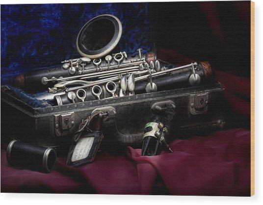 Clarinet Still Life Wood Print