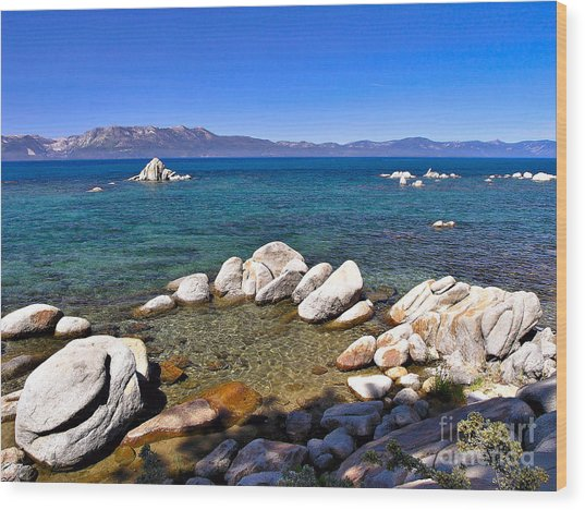 Clarity - Lake Tahoe Wood Print