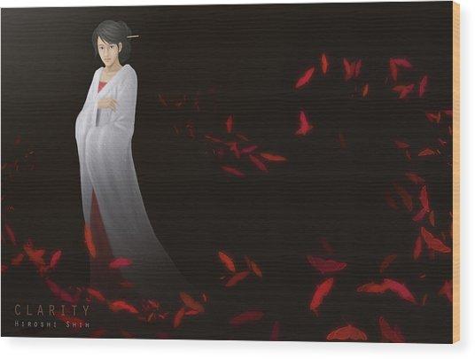 Clarity Ver.b Wood Print by Hiroshi Shih