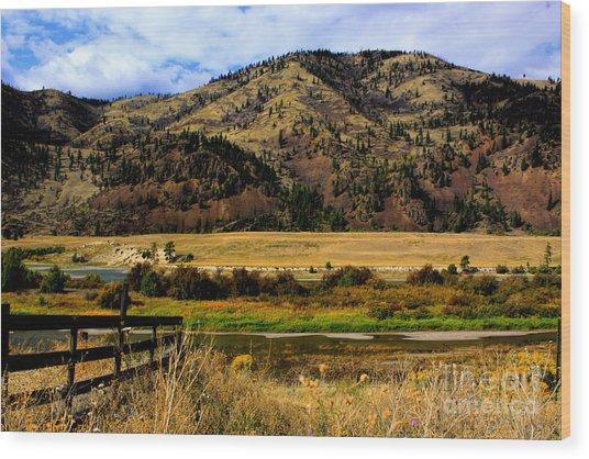 Clark Fork River Wood Print