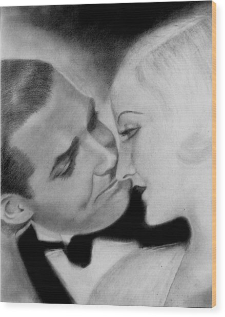 Clark Gable And  Carole Lombard Wood Print