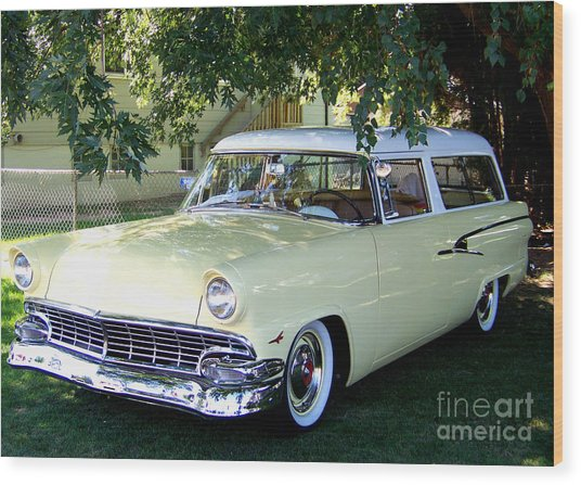 Classic 1956 Ford Ranch Wagon Wood Print
