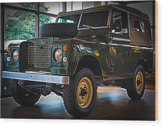 Classic 1969 Land Rover Series IIa Wood Print