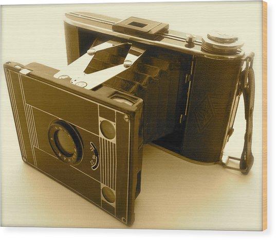Classic Bellows Folding Camera Wood Print