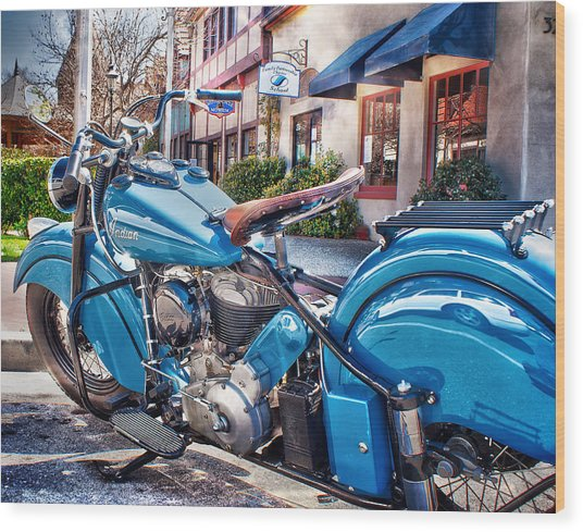Classic Blue Indian Chief Wood Print