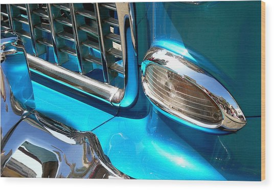 Wood Print featuring the photograph Classic Car As Art by Jeff Lowe