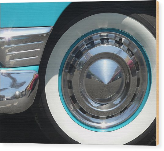 Wood Print featuring the photograph Classic Chevy Wagon by Jeff Lowe