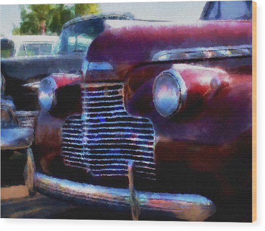 Classic Chevy Water Color Wood Print