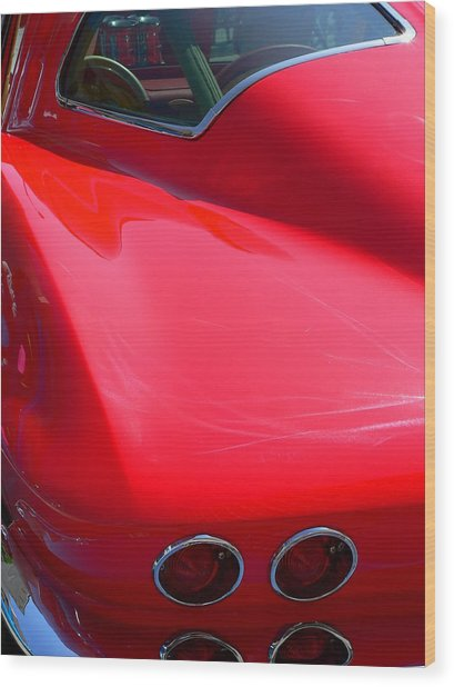 Wood Print featuring the photograph Classic Corvette Art Lines by Jeff Lowe