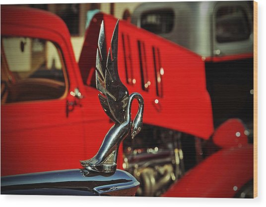 Classic Hood Ornament  Wood Print