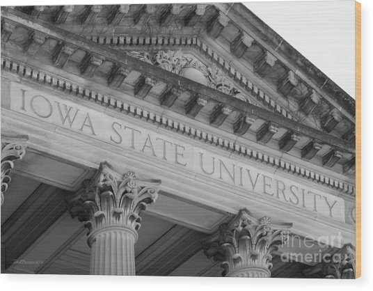 Classic Iowa State University Wood Print