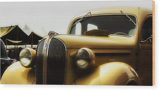 Classic Plymouth Wood Print