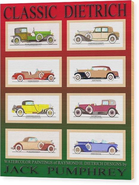 Dietrich Poster Wood Print