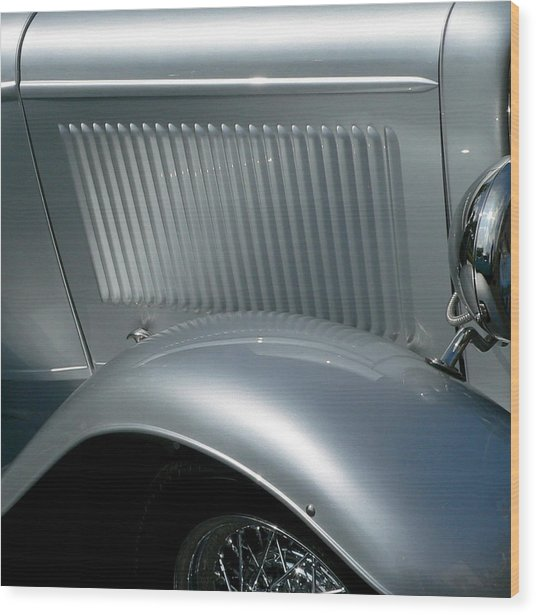 Wood Print featuring the photograph Classic Roadster Silver by Jeff Lowe
