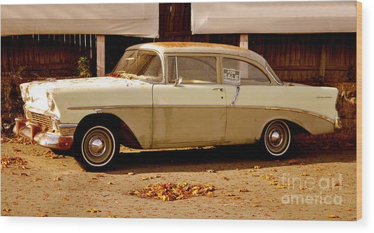 Classic Vintage Car Wood Print
