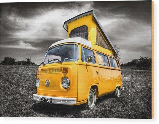Classic Vw Campervan Wood Print