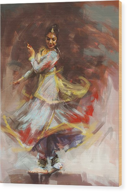 Classical Dance Art 8 Wood Print