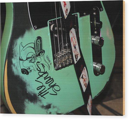 Guitar Lovers Wood Print