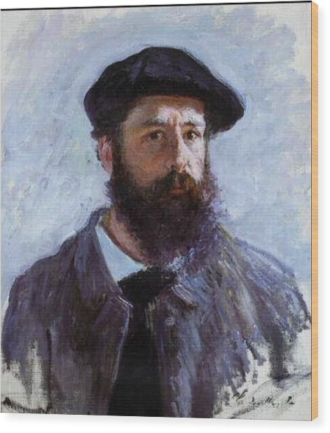 Claude Monet Self Portrait Wood Print