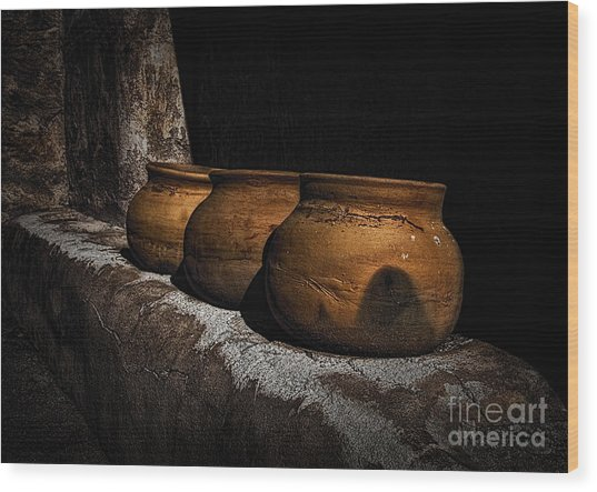 Clay Pots  ... Wood Print
