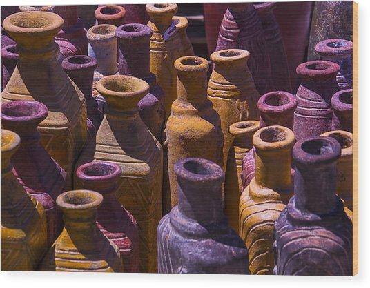 Clay Vases Wood Print