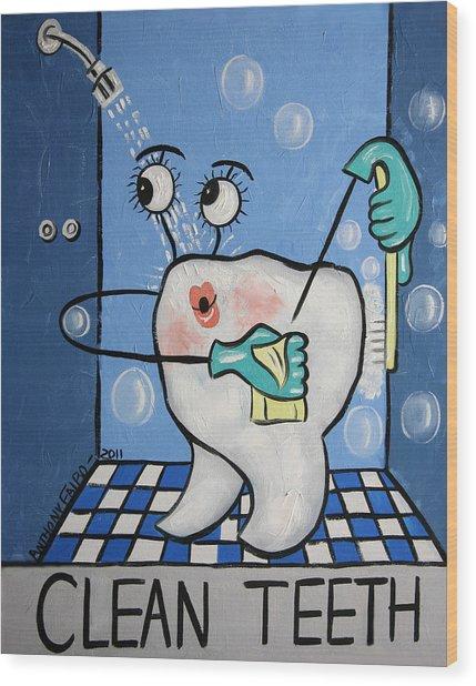 Clean Tooth Wood Print