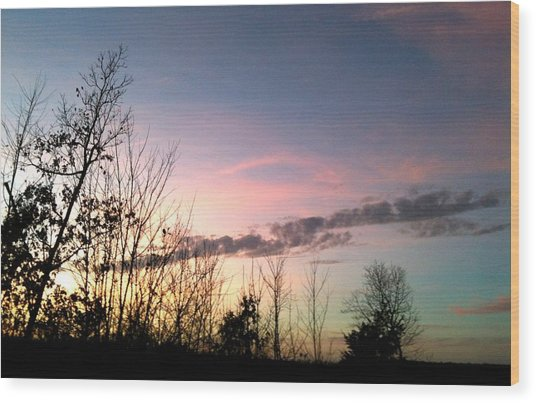 Clear Evening Sky Wood Print