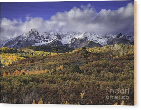 Clearing Storm At The Dallas Divide Wood Print