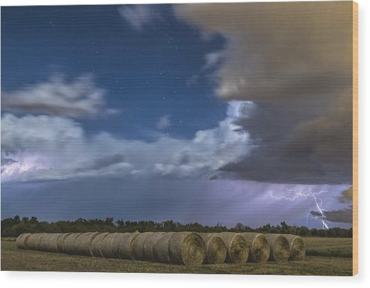 Clearing Storm Wood Print