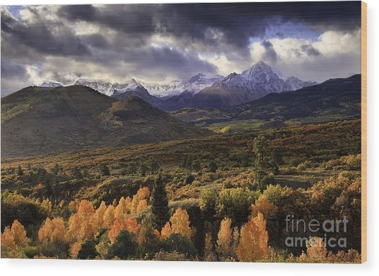 Clearing Storm The Sneffels Range Wood Print