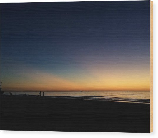 Clearwater Beach Sunset 1 Wood Print