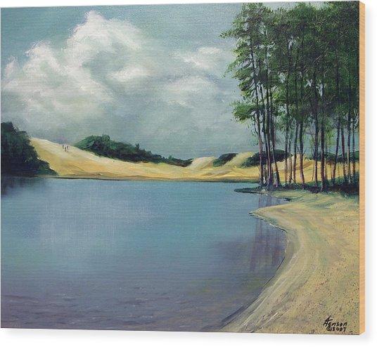 Cleawox Lake Wood Print