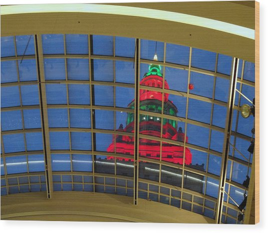 Cleveland Christmas Tower Wood Print