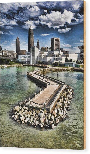 Cleveland Inner Harbor - Cleveland Ohio - 1 Wood Print