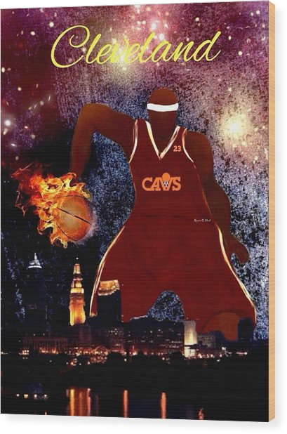 Cleveland Two Wood Print