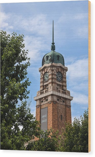 Cleveland West Side Market Tower Wood Print