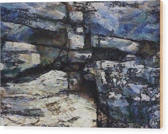 Cliff Abstract Wood Print by Gun Legler