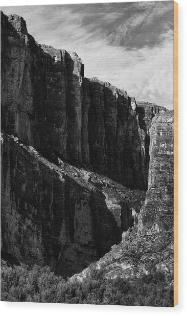 Cliffs In Contrast Wood Print