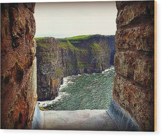 Cliffs Of Moher From O'brien's Tower Wood Print